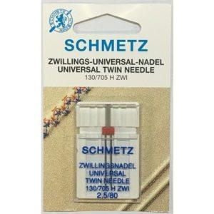 AGHI GEMELLI (TWIN) SCHMETZ | MISURA 2.5/80 | 130/705 H-S ZWI |MACCHINE PER CUCIRE 4006589001731