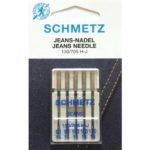 Aghi Schmetz per macchina da cucire 130/705 Jeans pz. 90 – 110 – 5 aghi 4006589002080