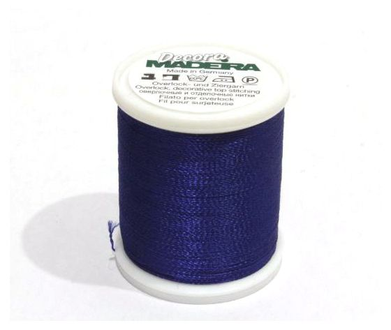 FILATO MADEIRA OVERLOCK -DECORA - No. 12-300 MT-SPOOL ROYAL BLUE MADEIRA-9870-1166